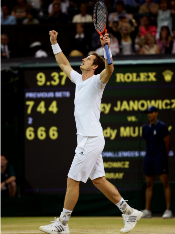 Andy Murray Wimbledon Semifinal - P - 2013