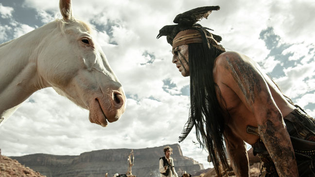 The Lone Ranger Depp with Horse - H 2013