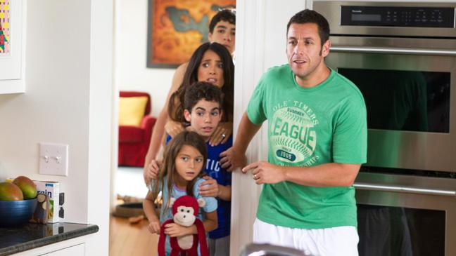 Grown Ups 2 Sandler Hayek with kids - H 2013