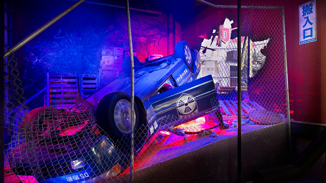 Godzilla Upside Down Car - H 2013