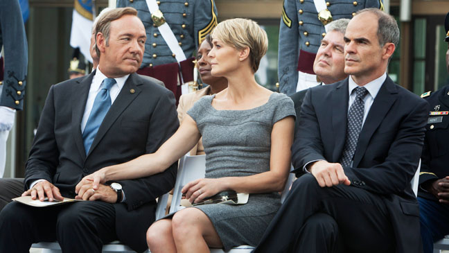 House of Cards Episodic Wright Spacey Outside - H 2013