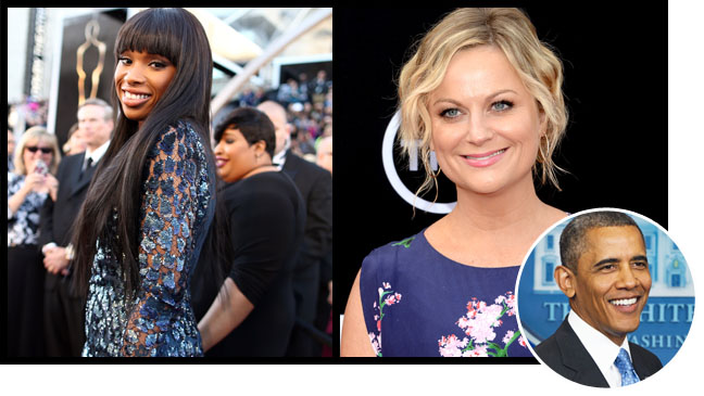 Jennifer Hudson Amy Poehler Split Obama Inset - H 2013