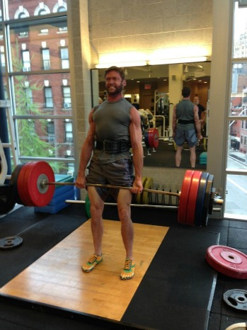 Hugh Jackman Weight Lifting Tweet - P 2013