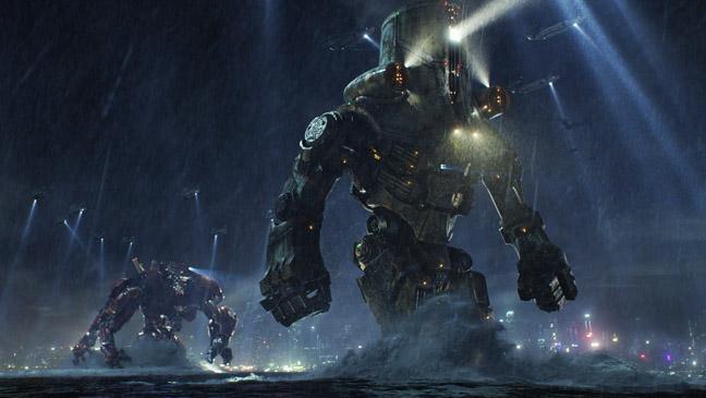 Pacific Rim Robot Fight Scene in Rain - H 2013