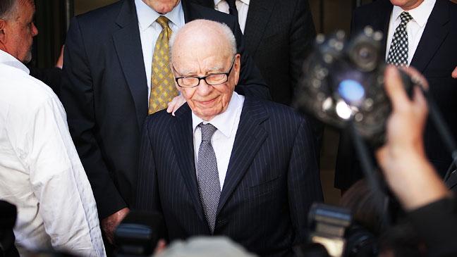 Rupert Murdoch Leaving Court Looking Down - H 2013