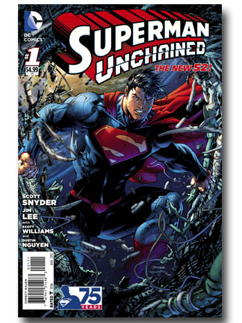 Superman Unchained Comic Cover - P 2013