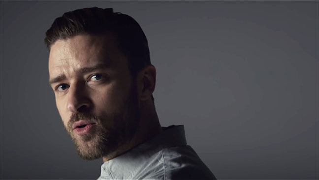 Justin Timberlake projects his face onto naked female