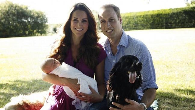 Prince William Kate Middleton Prince George 2013 H
