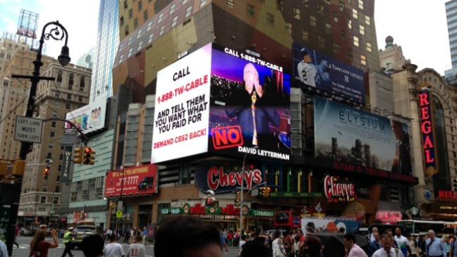 CBS Time Square Advertisement Anti TWC - H 2013
