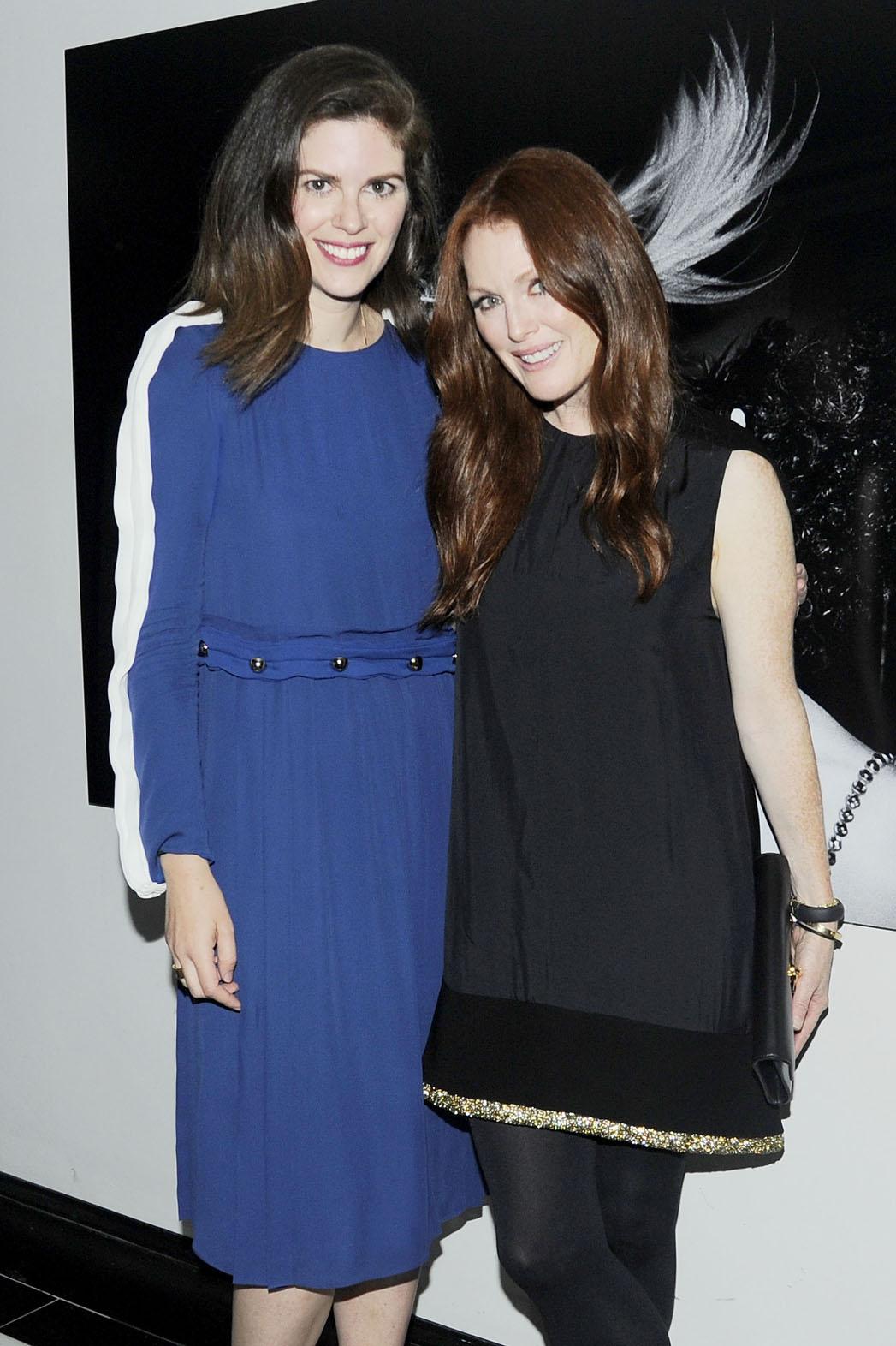 Leslie Fremar and Julianne Moore