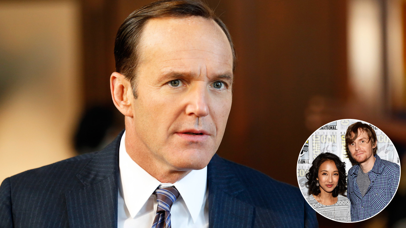 Clark Gregg with Jed Whedon Maurissa Tancharoen Inset - H 2013