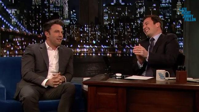 Ben Affleck Jimmy Fallon Late Night - H 2013