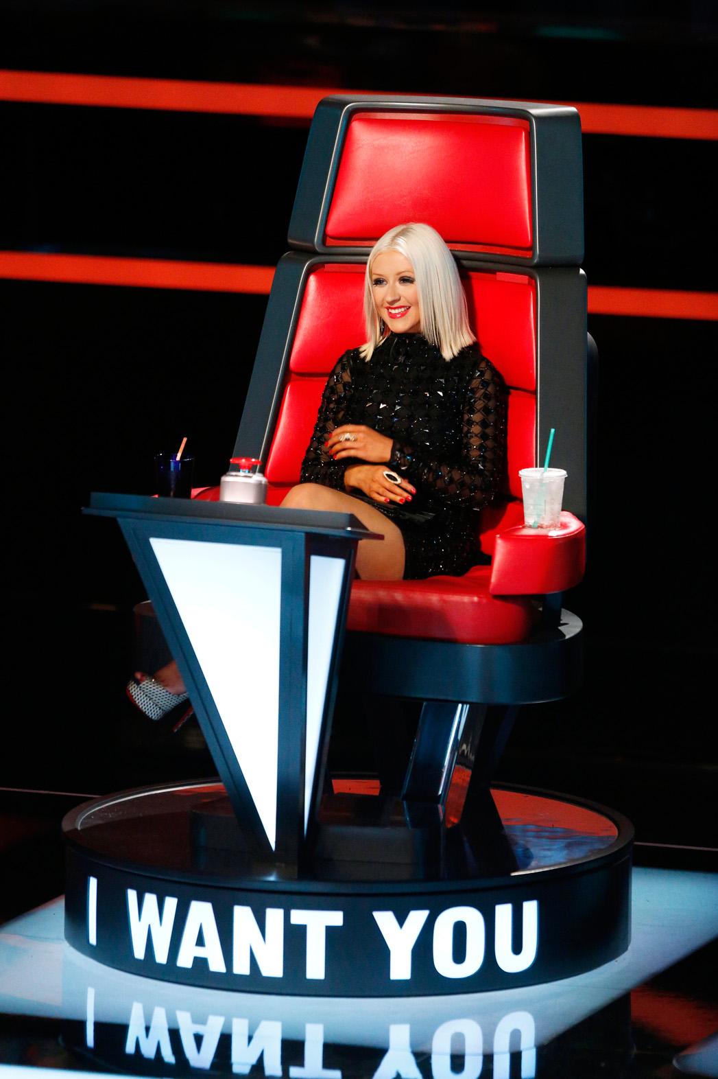 Christina Aguilera on The Voice Season 5 - P 2013