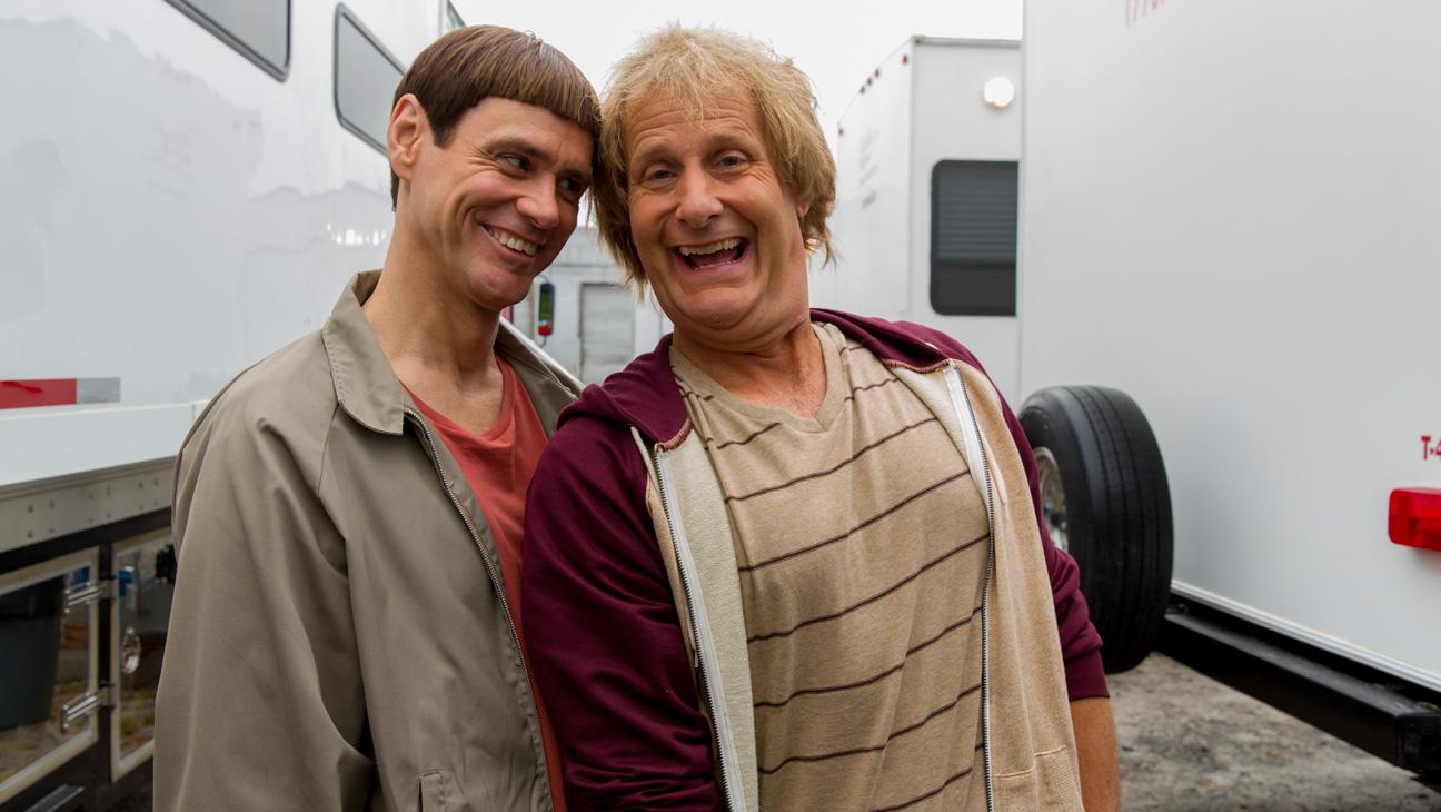 Carrey Daniels on Set Dumb and Dumber - H 2013