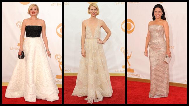Elisabeth Moss Claire Danes Julia Louis-Dreyfus Emmys Split - H 2013