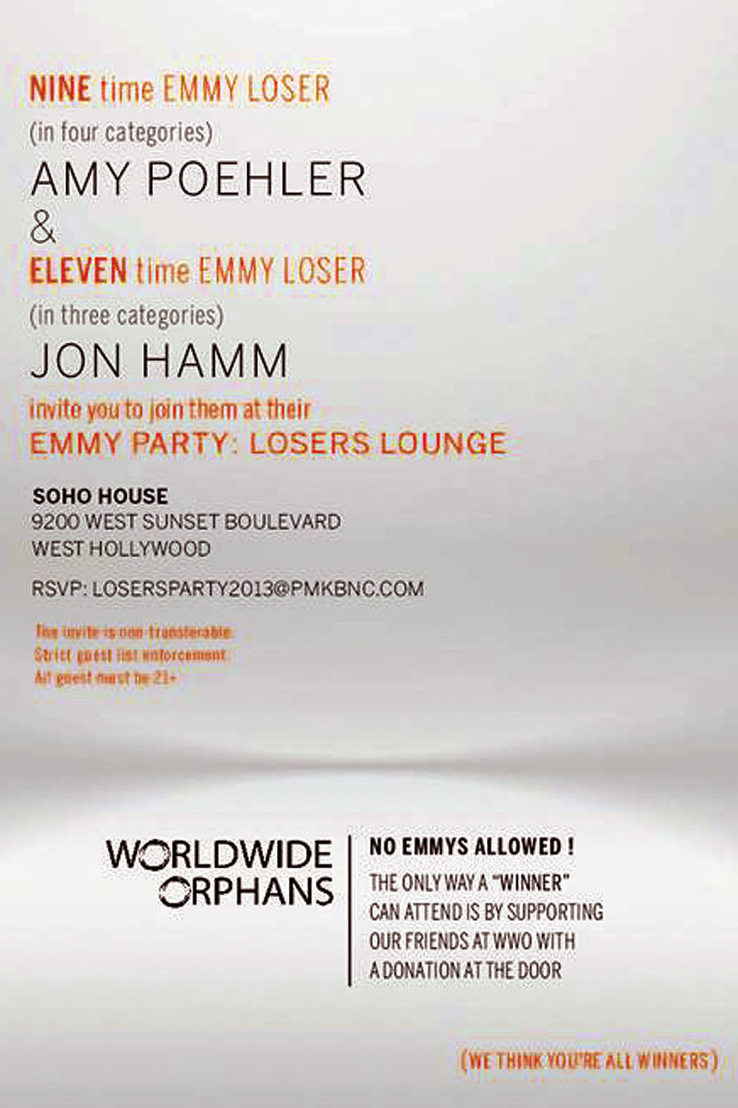 Emmy Party Losers Lounge - P 2013