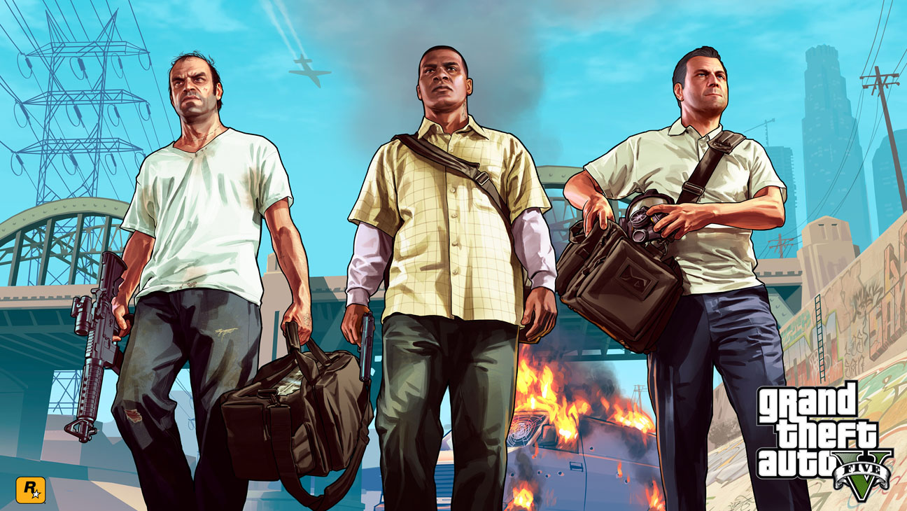 Grand Theft Auto 5 Key Art - H 2013