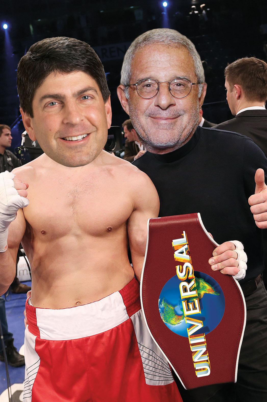 Jeff Shell Ron Meyer Boxing Illo - P 2013