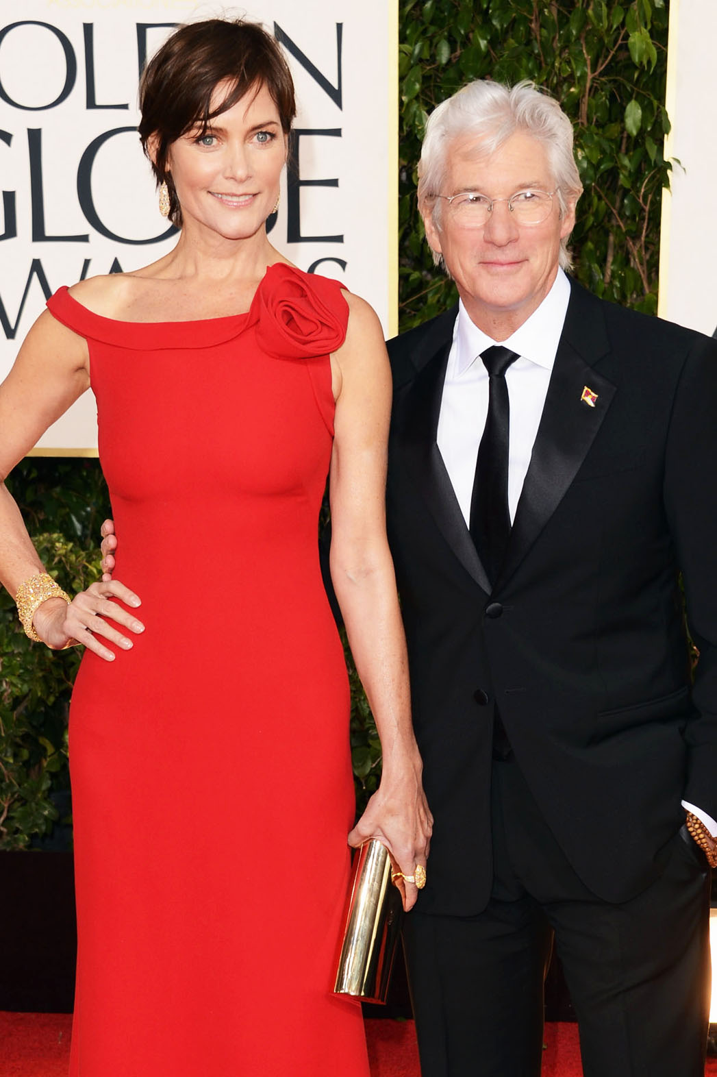 Richard Gere and Carey Lowell Golden Globes - P 2013