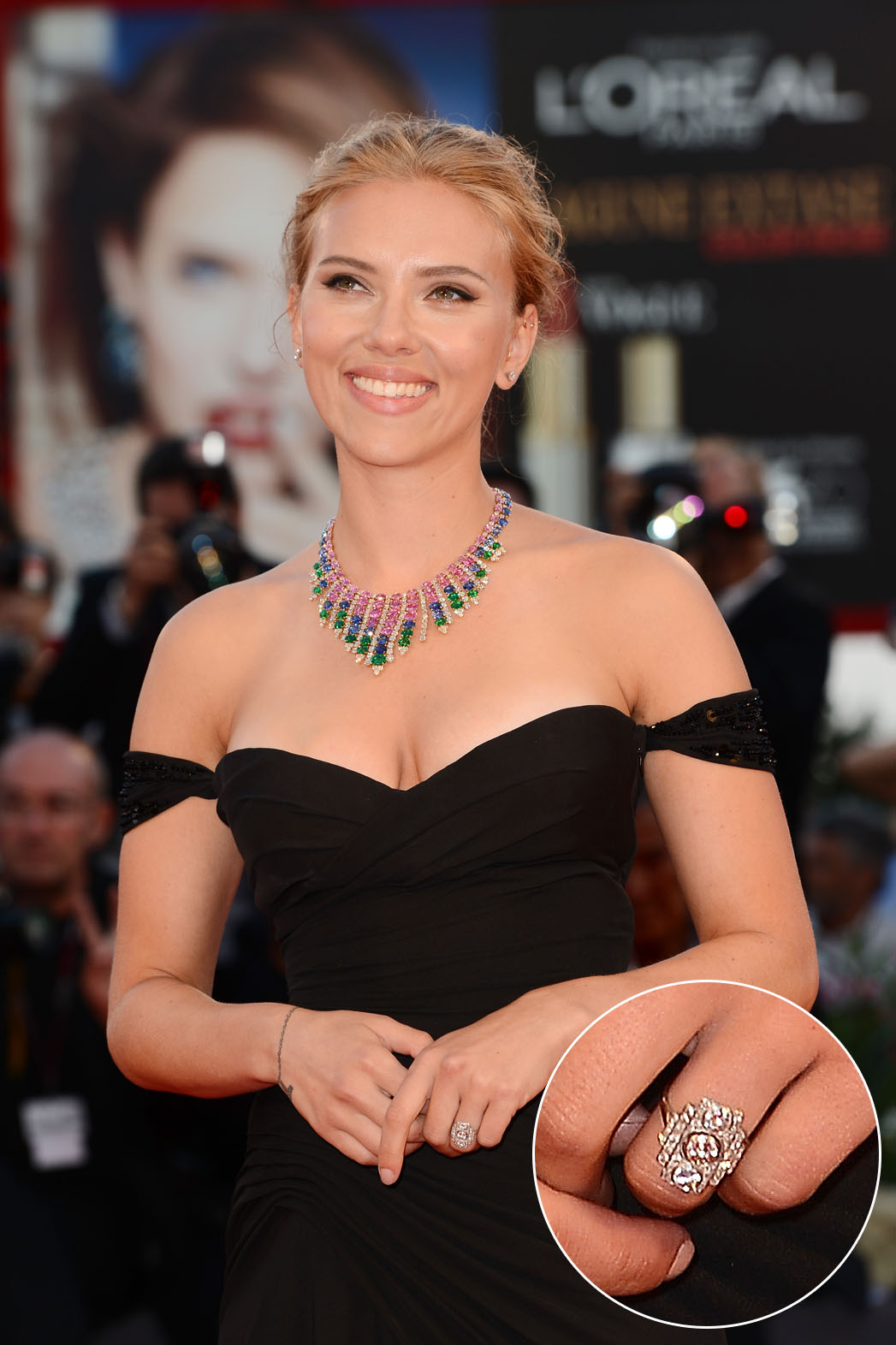 Scarlett Johansson Engagement Ring - P 2013