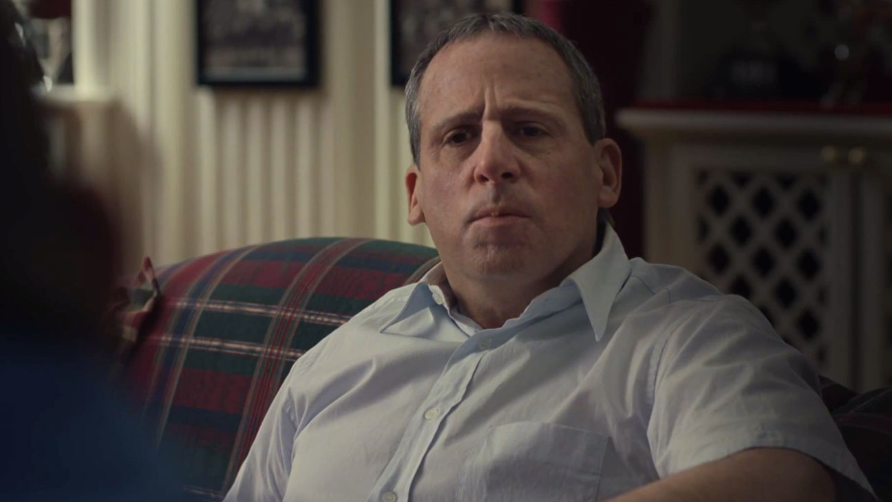 Steve Carell in Foxcatcher Trailer Screengrab - H 2013