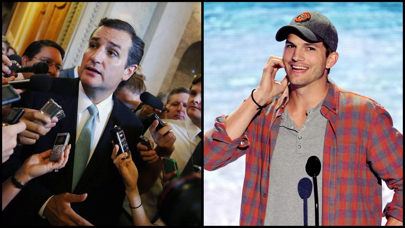Ted Cruz Ashton Kutcher - H 2013