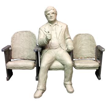 Roger Ebert Statue - S 2013