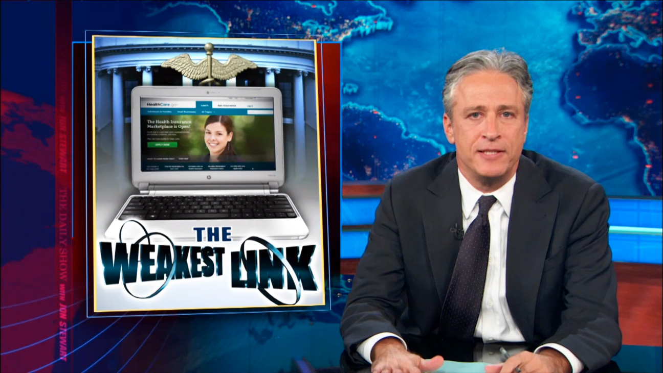 The Daily Show Jon Stewart Obamacare - H 2013