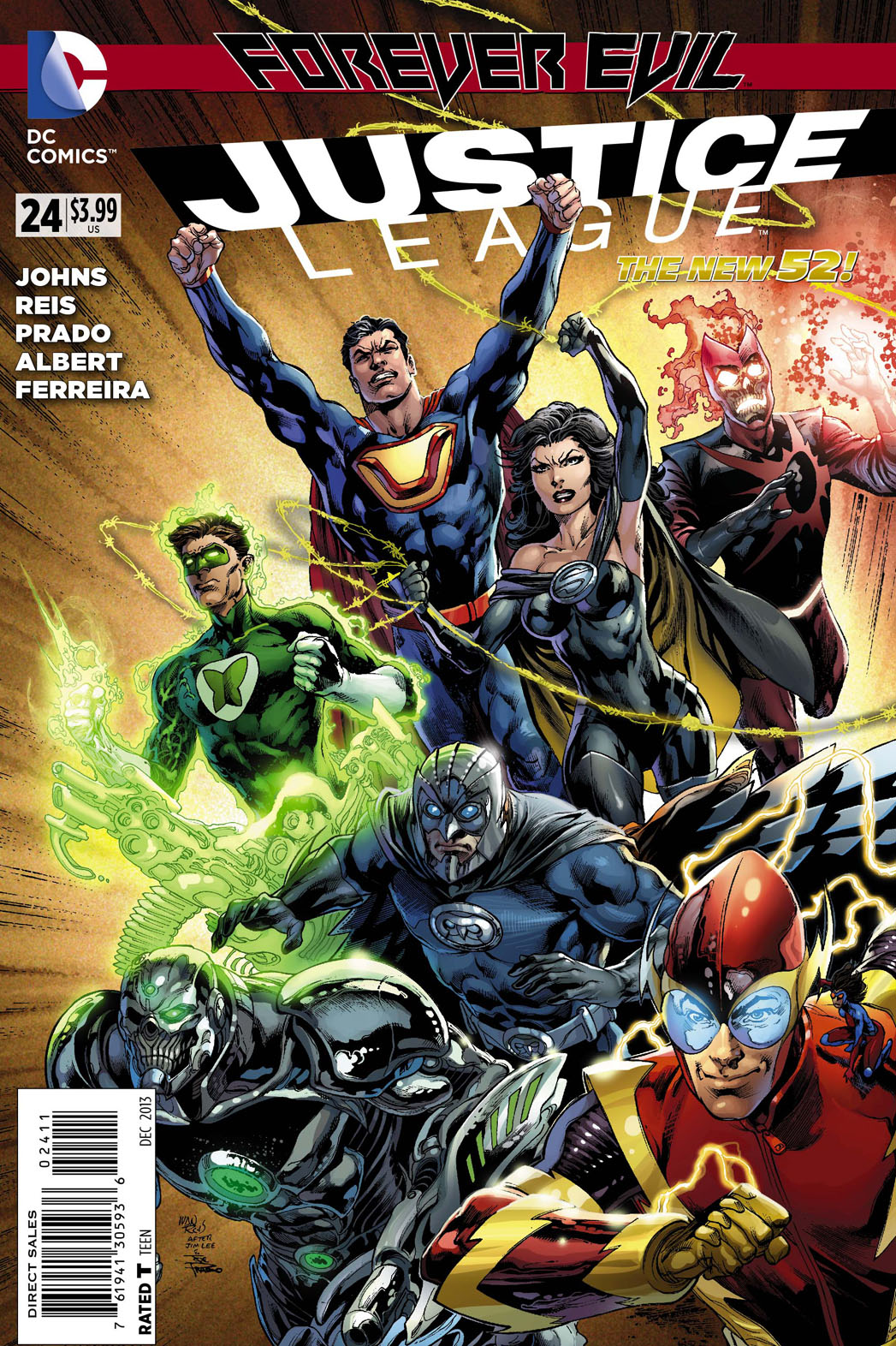 Justice League The New 52 Issue 24 Cover - P 2013