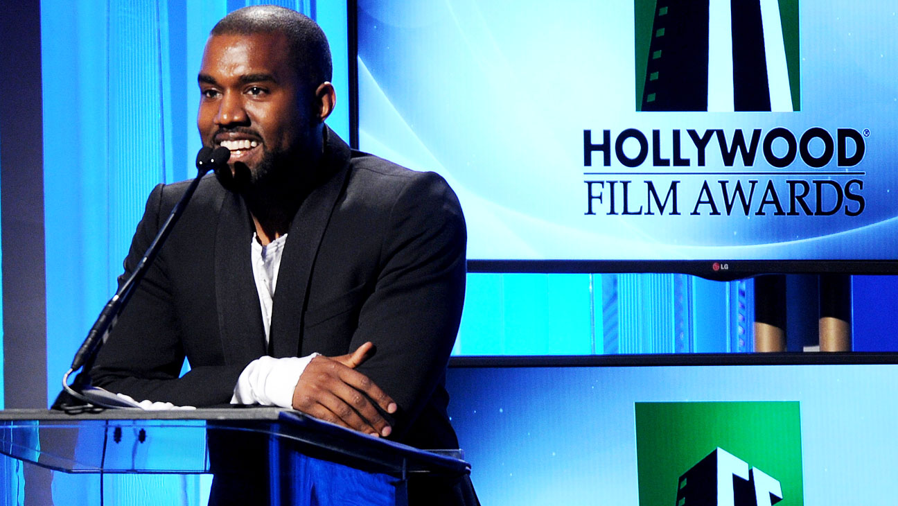 Kanye West Presenting at Hollywood Film Awards - H 2013