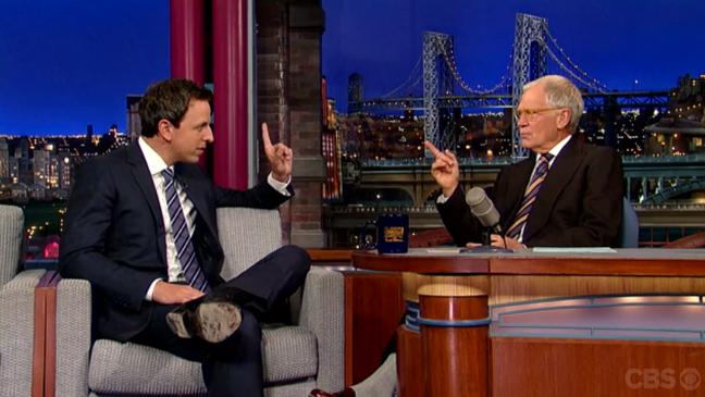 David Letterman Seth Meyers Screenshot 10/8 - H 2013
