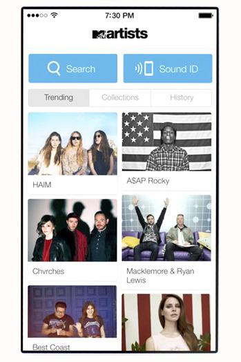 mtv artists iphone app P