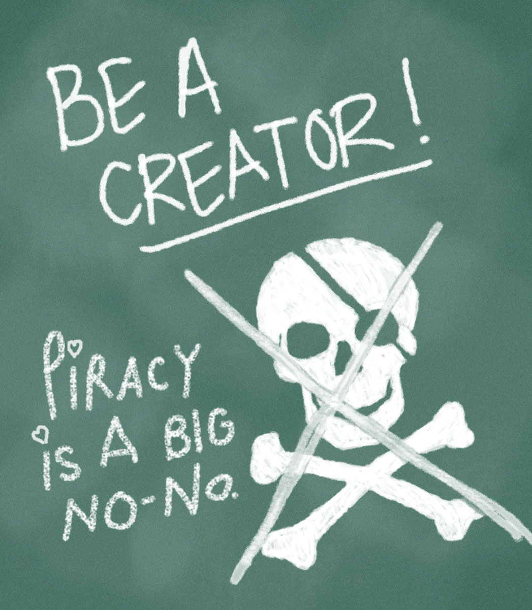Piracy Illustration - P 2013