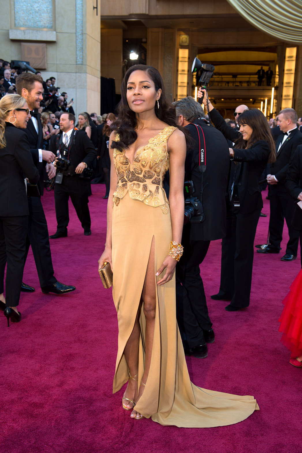 Red Carpet Green Dress Naomie Harris - P 2013