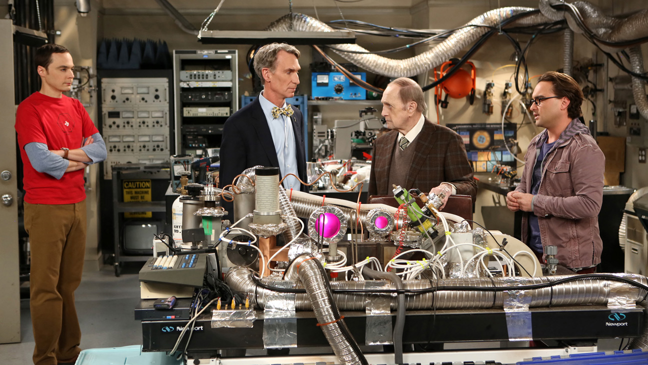 Big Bang Theory Bob Newhart Bill Nye - H 2013
