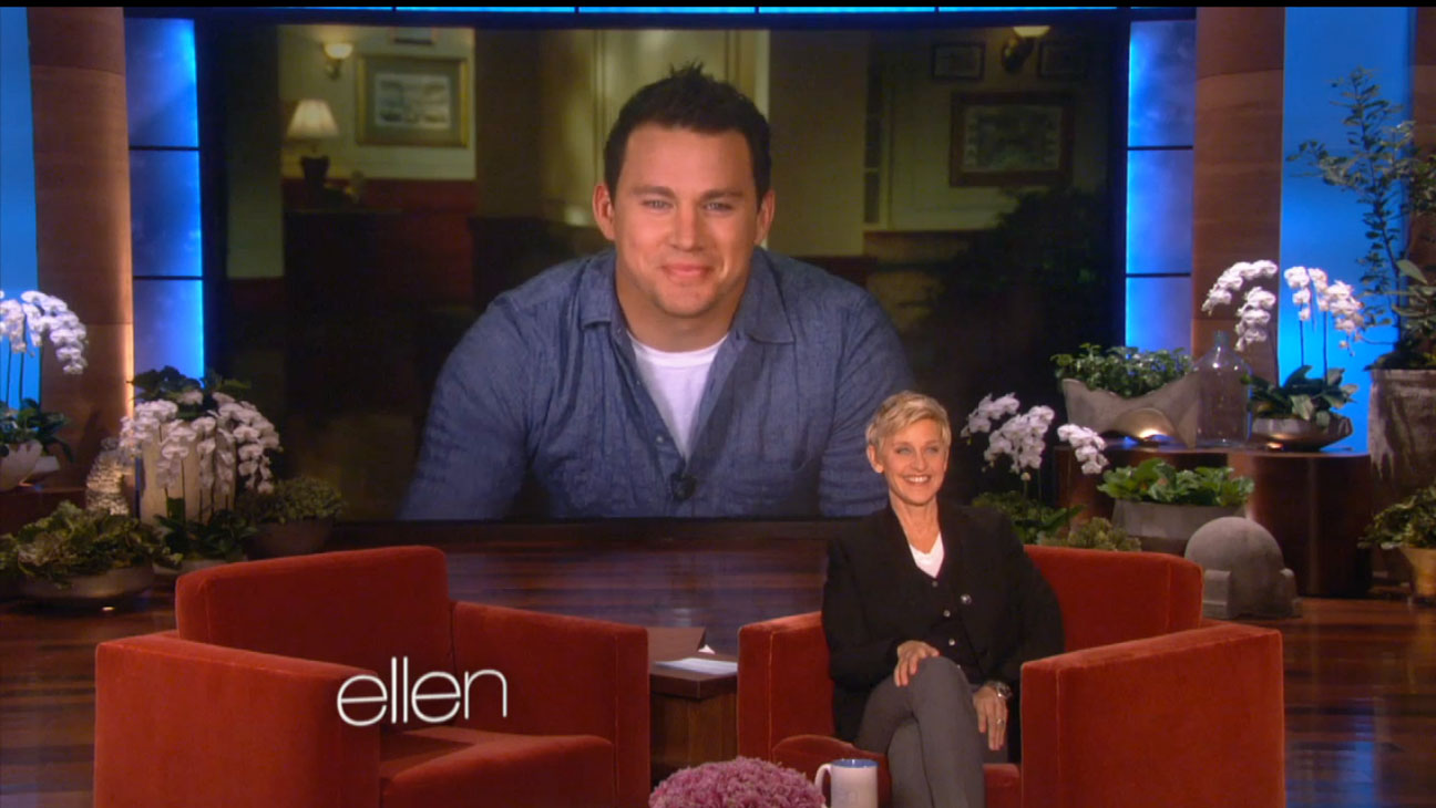 Channing Tatum on Ellen Screengrab - H 2013
