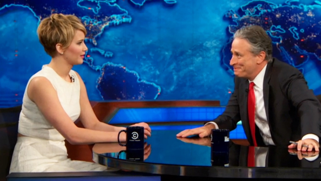 Jennifer Lawrence on The Daily Show - H 2013