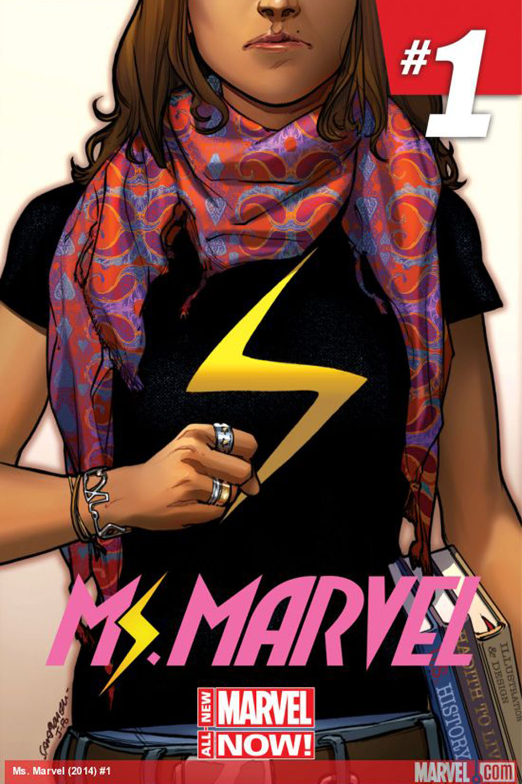 Ms. Marvel Number One Cover - P 2013
