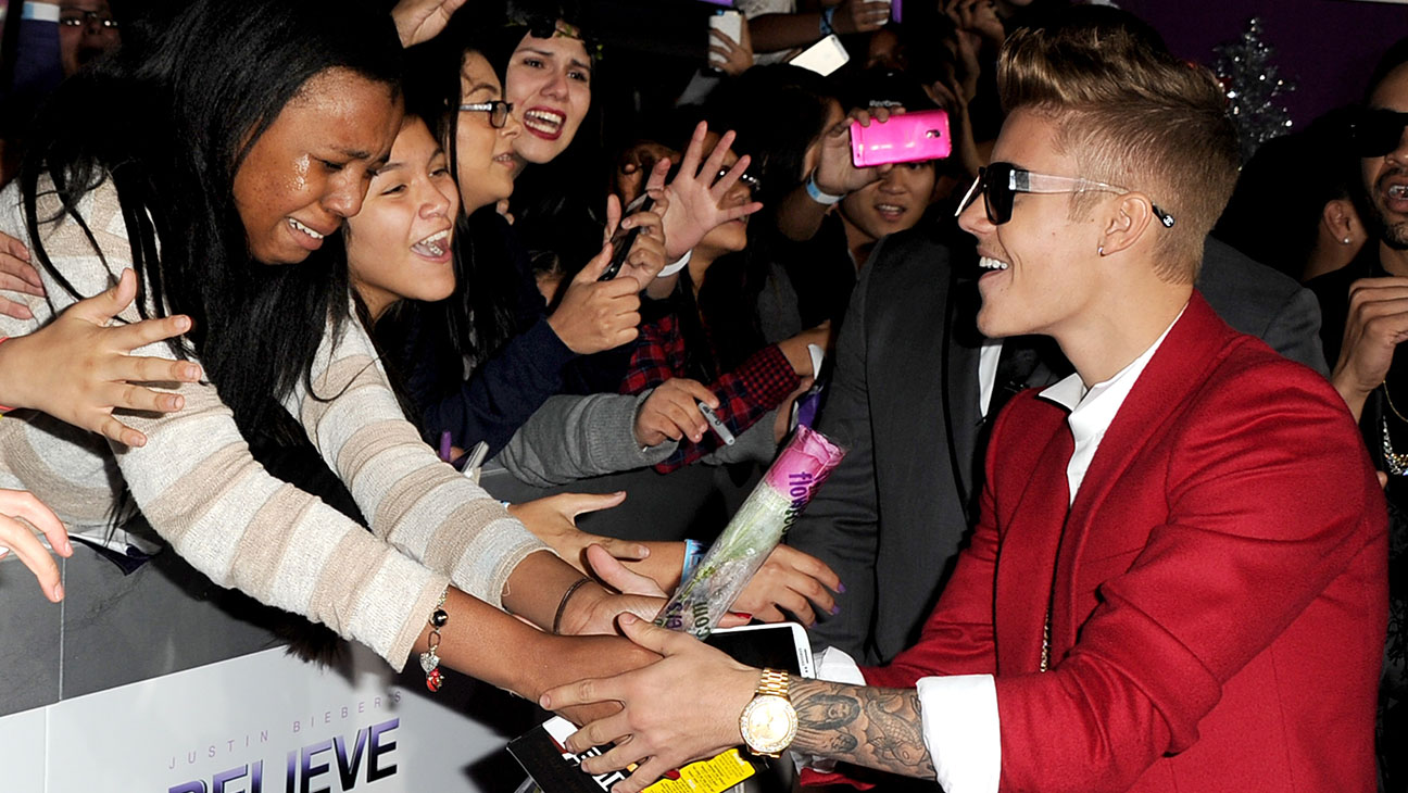 Greeting His Fans