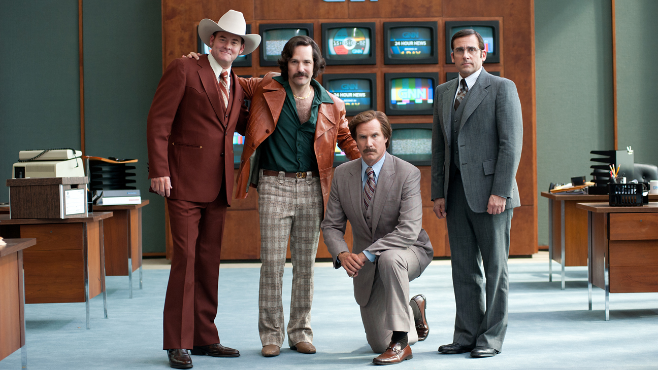 Anchorman: The Legend of Ron Burgundy (2004) and Anchorman 2: The Legend Continues (2013)