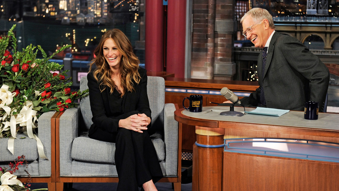 Julia Roberts on Late Show with David Letterman - H 2013
