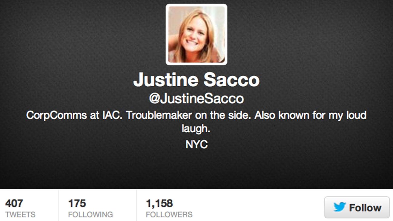 Justine Sacco Twiiter Avatar - H 2013