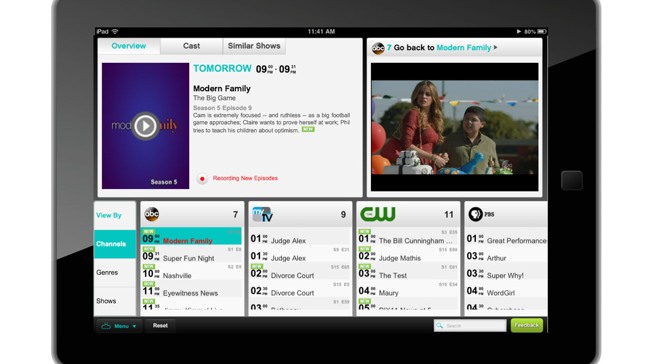 NimbleTV Interface - H 2013