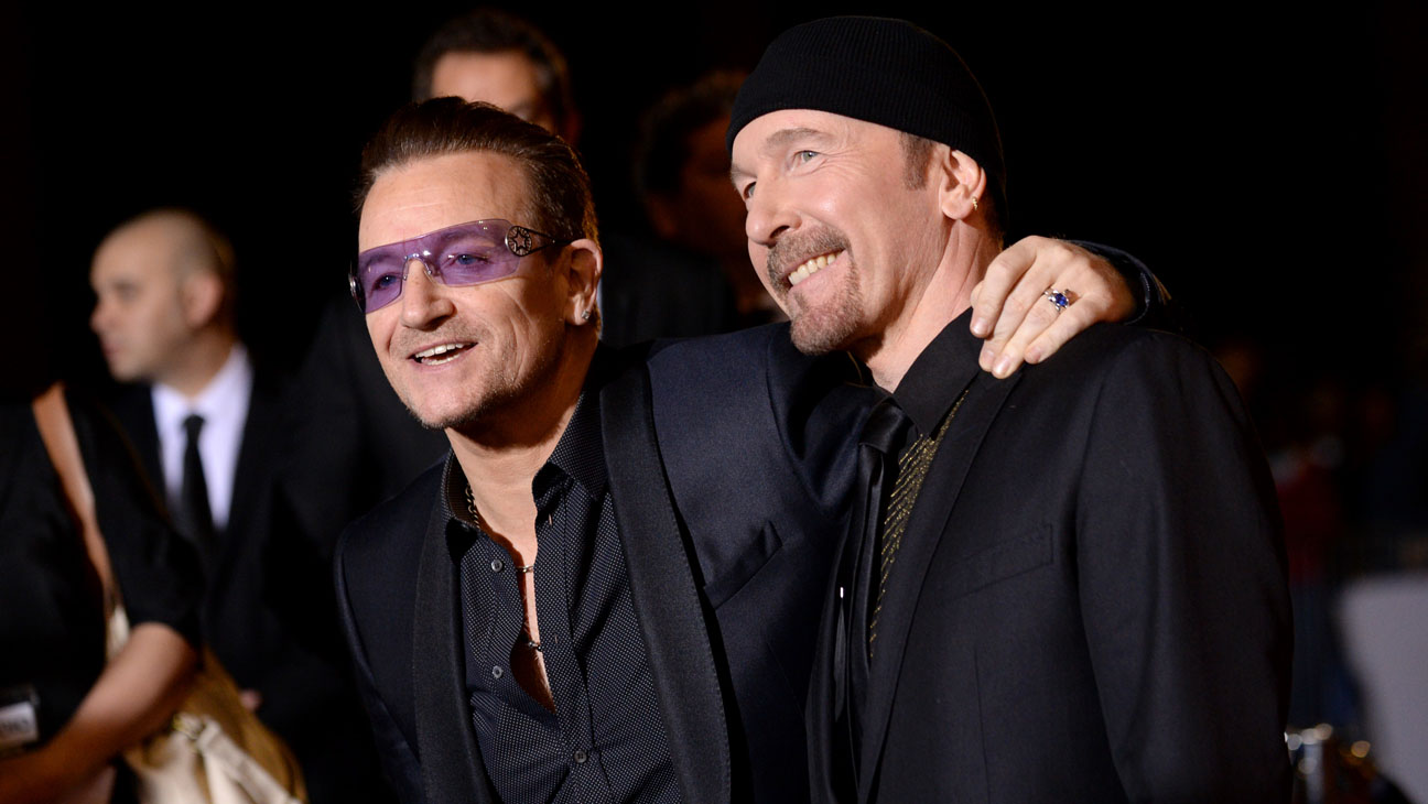 Bono, left, and The Edge