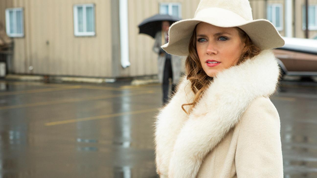 Amy Adams American Hustle White Coat Still - H 2014