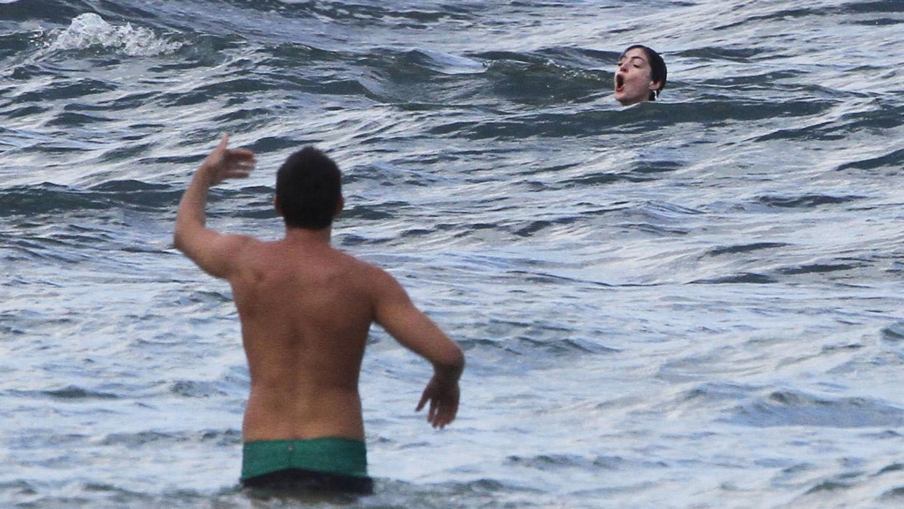 Anne Hathaway Saved In Ocean - H 2014