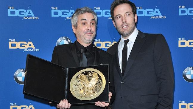 Alfonso Cuaron and Ben Affleck DGA H
