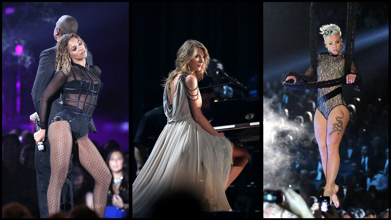 Beyonce Taylor Swift Pink Grammys - H 2014