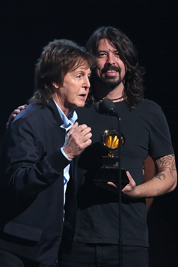 Dave Grohl Paul McCartney Grammys 2014 P