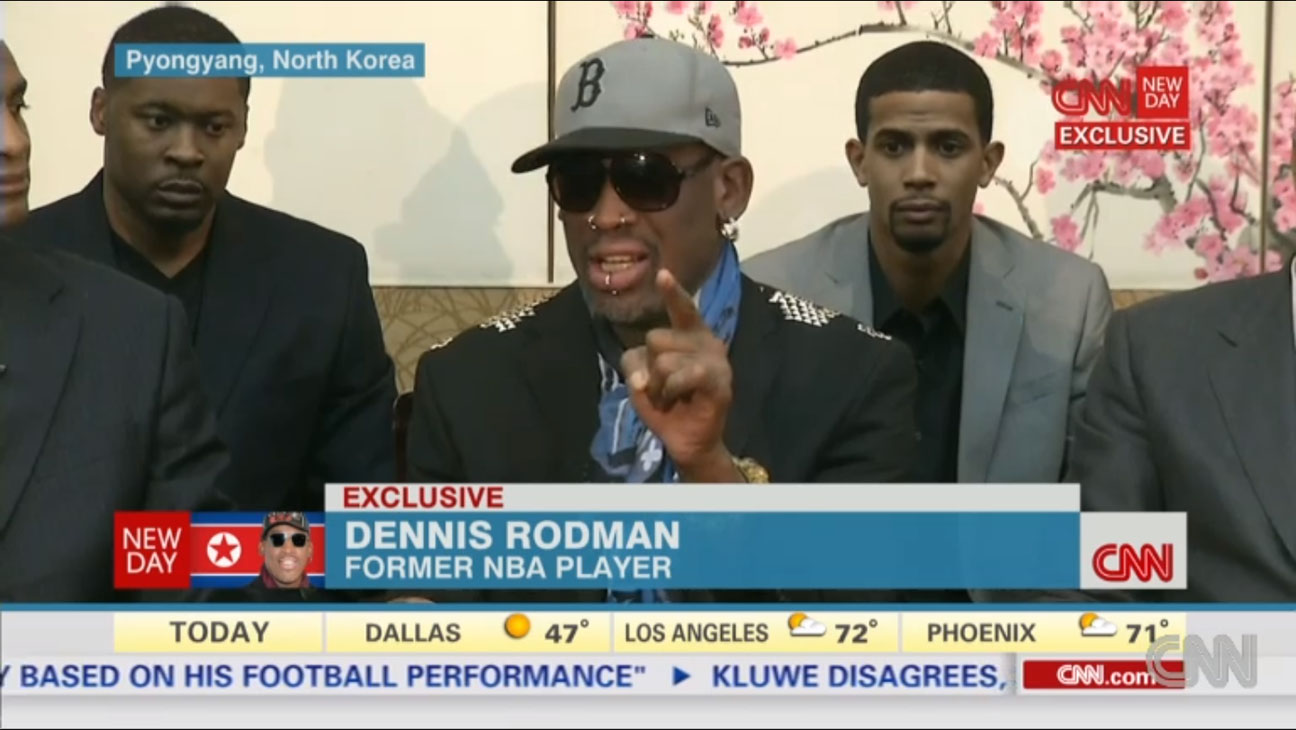 Dennis Rodman CNN Interview North Korea - H 2013